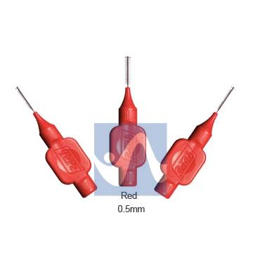 TePe Linea Cura Dentale Quotidiana 6 Scovolini Interdentali 0,5 Colore Rosso