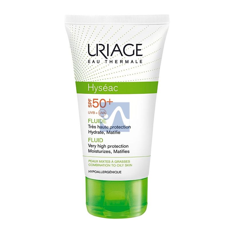 Uriage Linea Pelle Grassa Hyseac SPF50+ Fluido Solare Opacizzante Viso 50 ml