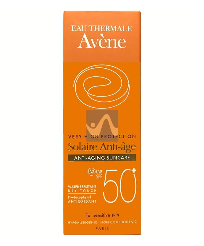 Avene Linea Solare Pelli Sensibili SPF50+ Crema Viso Protettiva Anti-Età 50 ml