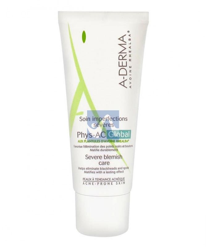 A-Derma Linea Phys-AC Pelli Grasse Global Trattamento Imperfezioni Severe 40 ml