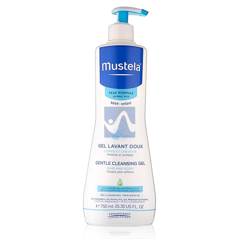 Mustela Linea Pelli Normali Gel Detergente Delicato Corpo e Capelli 750 ml