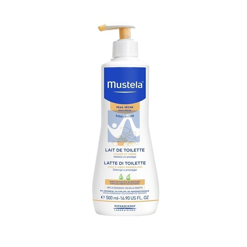 Mustela Linea Pelli Secche Latte di Toilette Detergente Viso Corpo 500 ml