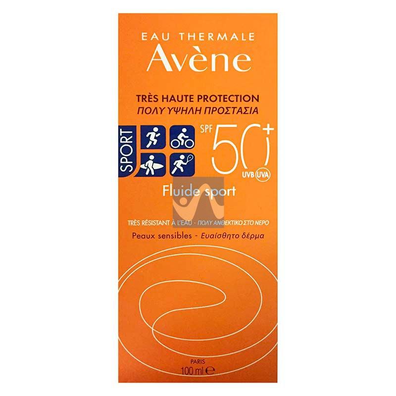 Avene Linea Solare SPF50+ Fluido Solare Sport Molto Resistente all'Acqua 100 ml
